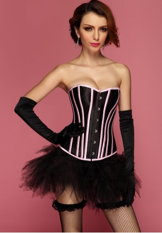 Overbust Corset with Stunning Contrasting Lines