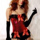 Sequin Burlesque Underwire Corset