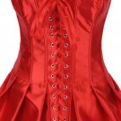 Lace-Up Skirted Satin Corset