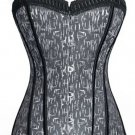Stripy Print Hour Glass Figure Corset
