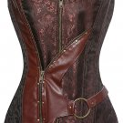 Streampunk Faux Leather Corset