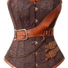 Brocade Steampunk Embroidery Overbust Corset