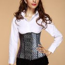 Stamped Stars PVC Leather Underbust Corset