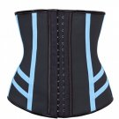 Steel Boned Training Corset with Light Blue Elastic Tape