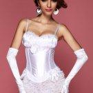 White Peasant Burlesque Corset