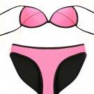 Plain Color Rubber Bikini Set