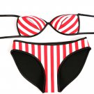 Rubber Red Striped Bikini