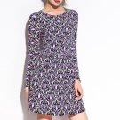Colorful Bud Pattern Print Stretch Slim Club Dress