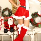 Red Santa Lady Skirt Set