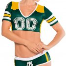 Green and Yellow Fantasy Football Costume