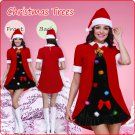 Velvet Santa's Pleated Dress