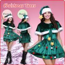 Velvet Christmas Tree Style Pleated Dress