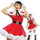 Velvet Christmas Costumes Strapless Mini Dress