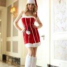 White Stripe Santa Criss Cross Dress