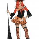 Orange and Black Color Witch Costume