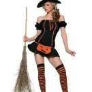 Pumpkin Girl Witch Costume