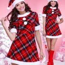 Sweetheart Red Plaid Christmas Dress Costume