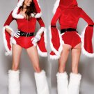 Long Red Sleeve Christmas Jumpsuit