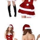 Christmas Costume Strapless Dress