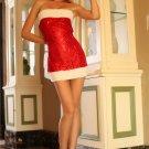 Party Sequin Mini Santa Dress