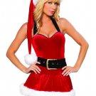 Mini Velvet Halter Christmas Dress