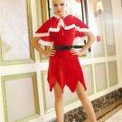 Santa's Velvet Scalloped Trim Costume