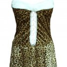 Holiday Leopard Print Plush Dress Diva
