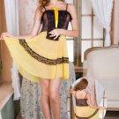 Sheer Mesh Chemise Dress