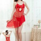 Red Hollow-out Chemise
