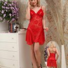 Rose Embroidered Lace Chemise