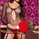 Fishnet Chemise With Garters