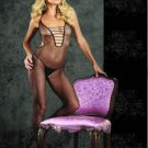Halter Fishnet Cut Out Bodystocking