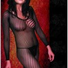 Long Sleeved Striped Bodystocking