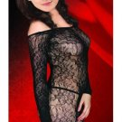 Long Sleeved Baroque Lace Bodystocking