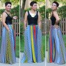 Bohemia Multi-color Striped Dress