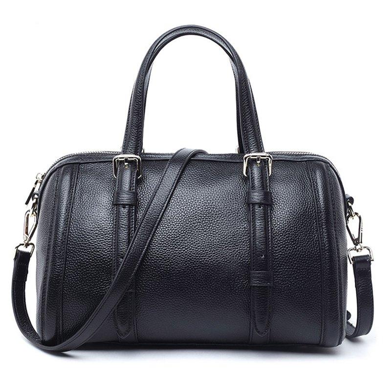 Trendy Genuine Leather Tote Handbag