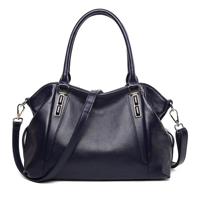 Vintage Style Soft Genuine Leather Tote Large Shoulder Bag