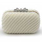 Bling Bow Clutch Purse Wedding Pearl Clutch Evening Bag