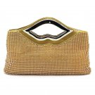 Luxurious Large Rhinestone Clutch Evening Purse with Sequin