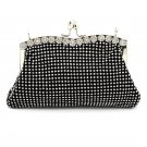 Kiss Lock Diamond Soft Purse Handbag for Women