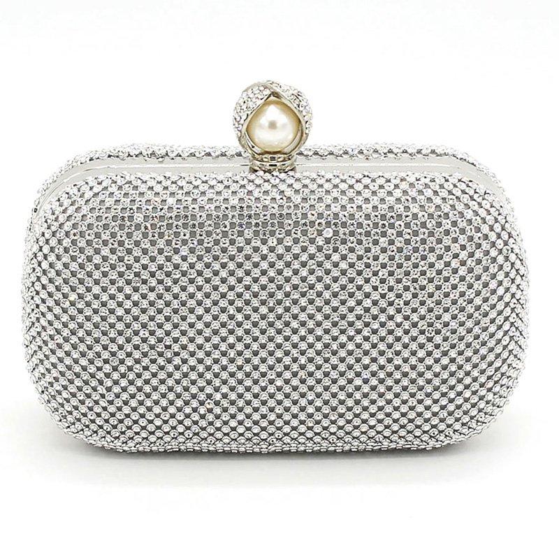 Diamond Pearl Evening Bag Wedding Party Clutch