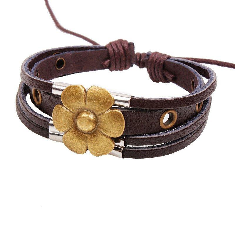 Lucky Flower Multilayer Adjustable Handmade Unisex Bracelet