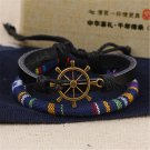 Alloy Rudder PU Leather Bracelet