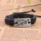 Alloy Love Heart Arrow PU Leather Bracelet