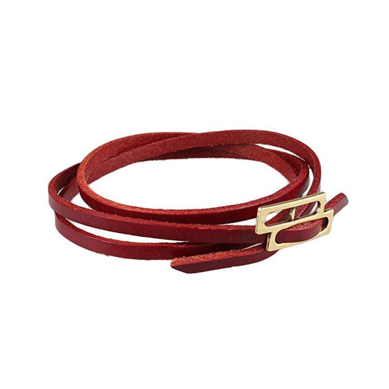 Multilayer Golden Button PU Leather Bracelet 6 Colors
