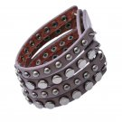 Metal Studs Snap Button Genuine Leather Bracelets