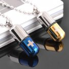 Capsule Shape Stainless Steel Necklace