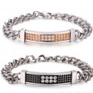 Diamond ID Plate Bracelet