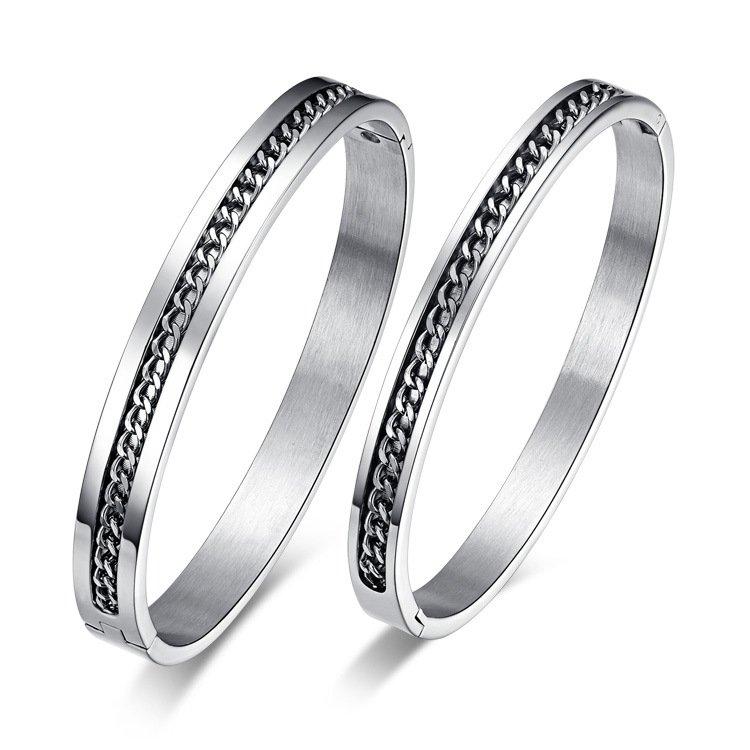 Chain Split Couple Bangle