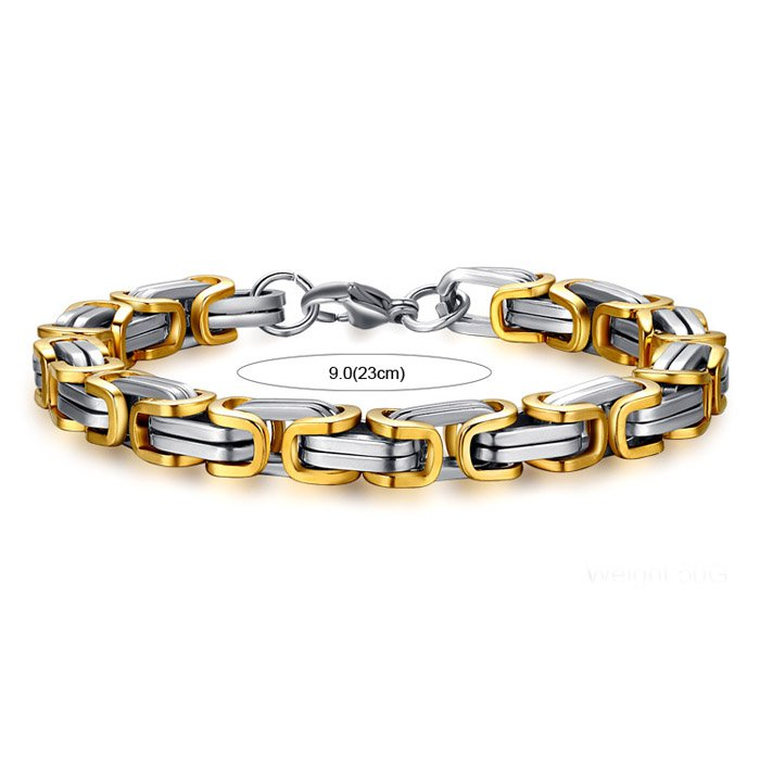 Gold Stainless Steel Men's Bracelet
